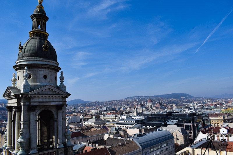 Vistas desde la cúpula de la basílica de San Esteban, una de las mejores de Budapest. Día 1: Madrid - Budapest
