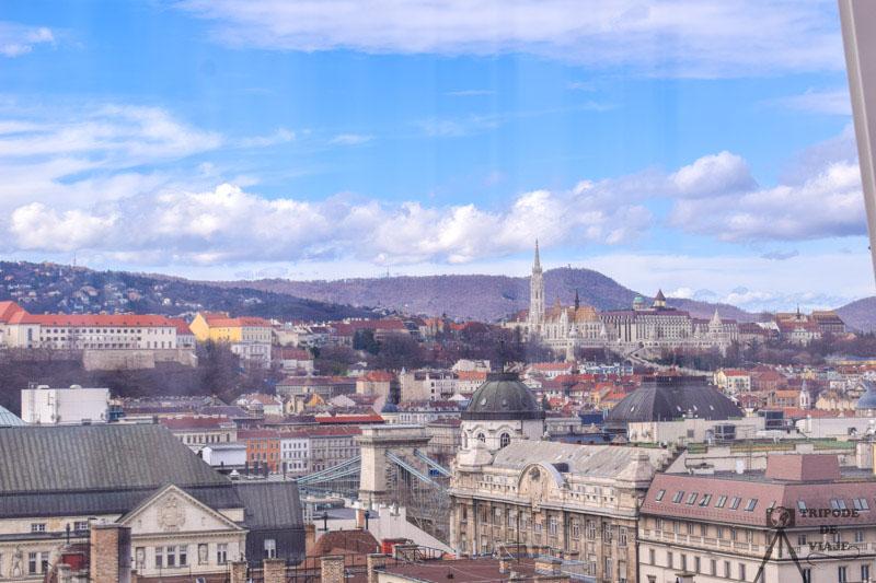 Vistas desde la noria de Budapest, uno de las atracciones que visitamos en el día 3, nuestro último día en Budapest.