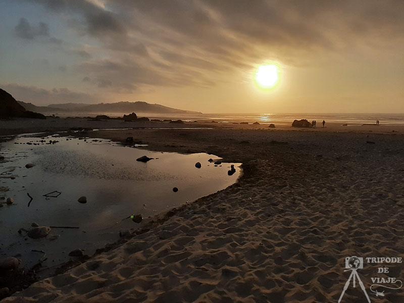 Atardecer en Playa de Gerra