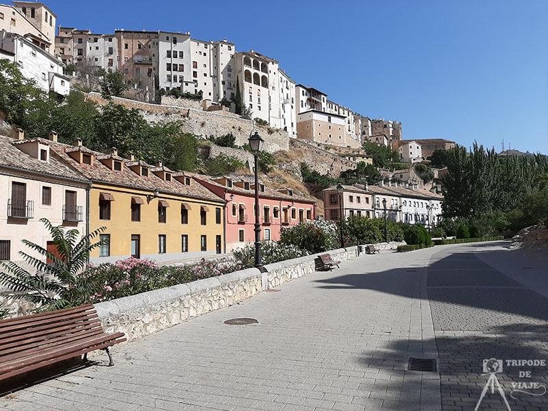 Vistas de Cuenca desde el Paseo Hoz del Huécar. Qúe ver en Cuenca en 1 día.