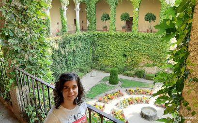 Vistas del patio del monasterio de Yuste.