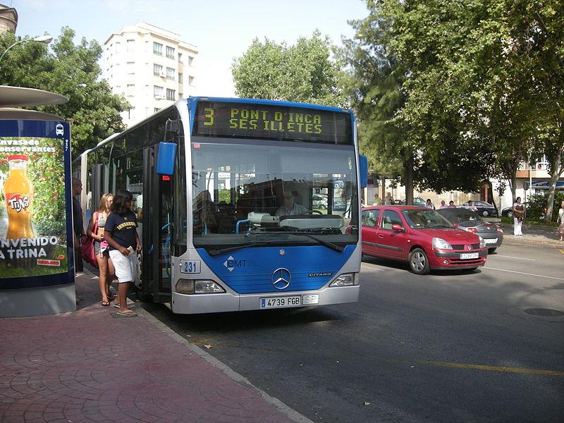 Línea de bus Mallorca.