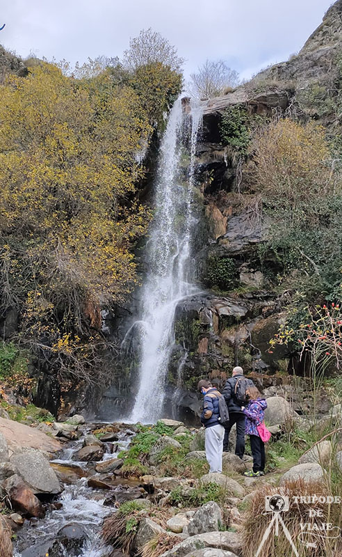 Chorrera de Hervás, una de las cascadas del norte de Extremadura.