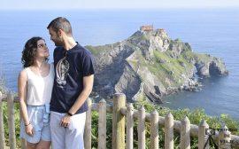 Vistas de la ermita de San Juan de Gaztelugatxe.