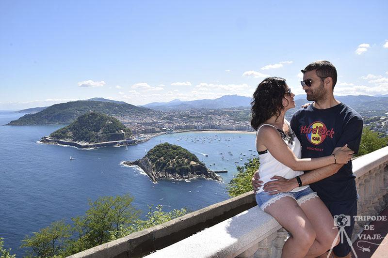 Vistas de la bahía de la Concha desde el Monte Igueldo.