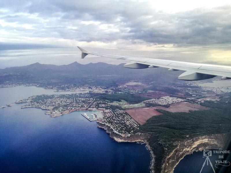 Vistas de Mallorca desde el avión.
