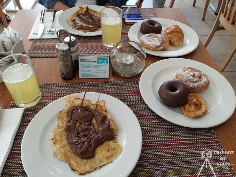 Desayuno que nos tomamos en el hotel en el día 2 de nuestro viaje a Mallorca.