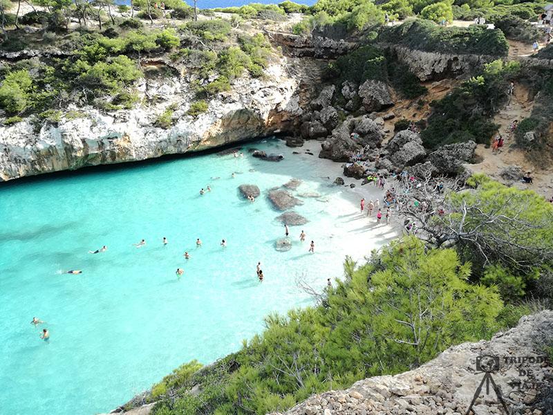 Vistas a Caló des Moro, viaje a Mallorca en 3 días.
