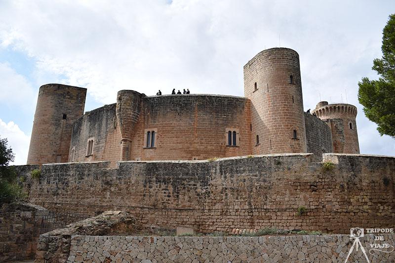 Vistas del castillo de Bellver.