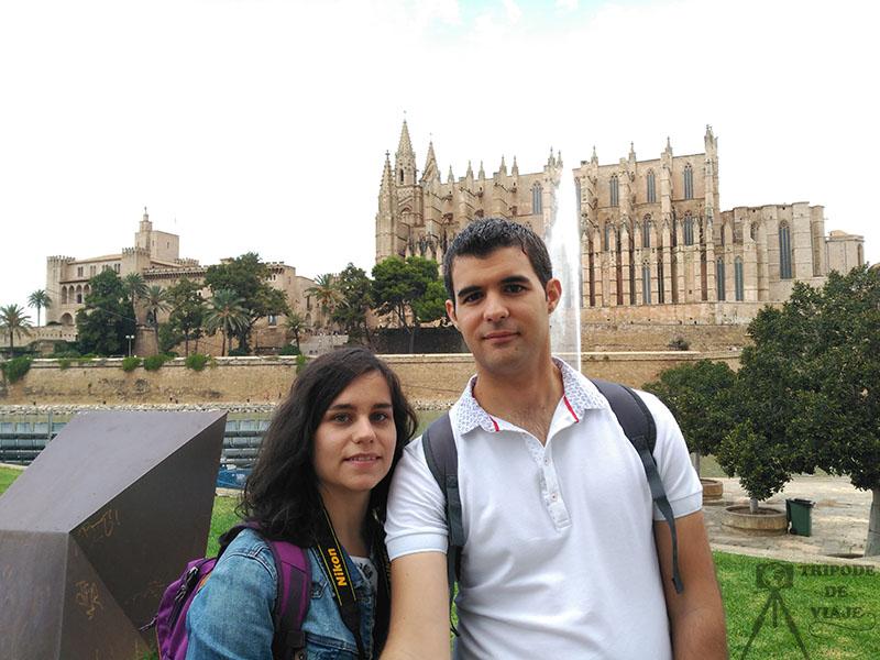 Vistas de la Catedral de Palma. Uno de los imprescindibles que ver en Mallorca.