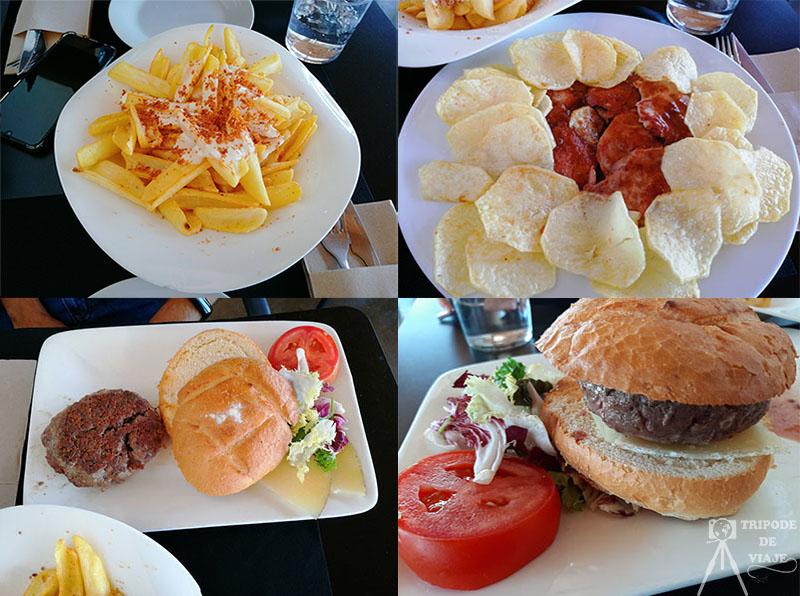 Nuestra comida en el restaurante el Panorámico.