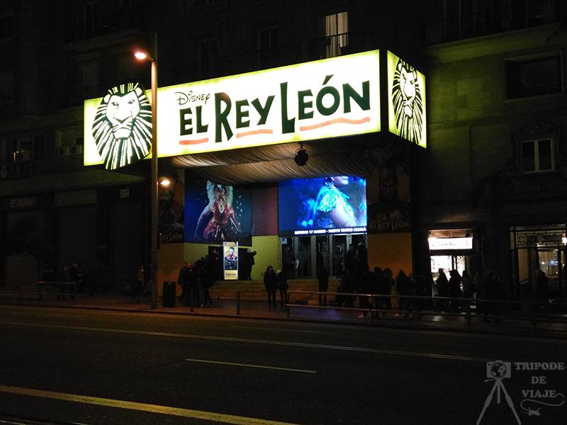 Musical del Rey León en el Teatro Lope de Vega, uno de los 12 planes que hacer en Madrid.