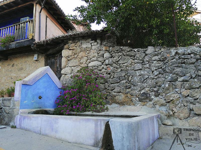 Fuente en el pueblo de Villanueva de la Vera.