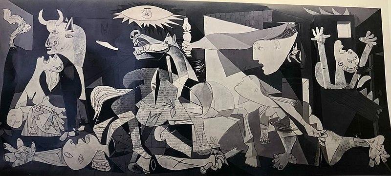 El Guernica de Picasso en el Museo Reina Sofía.