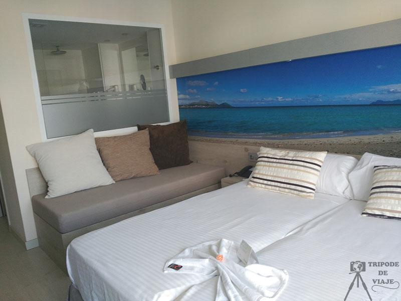 Nuestra habitación del hotel. Consejos para viajar a Mallorca.