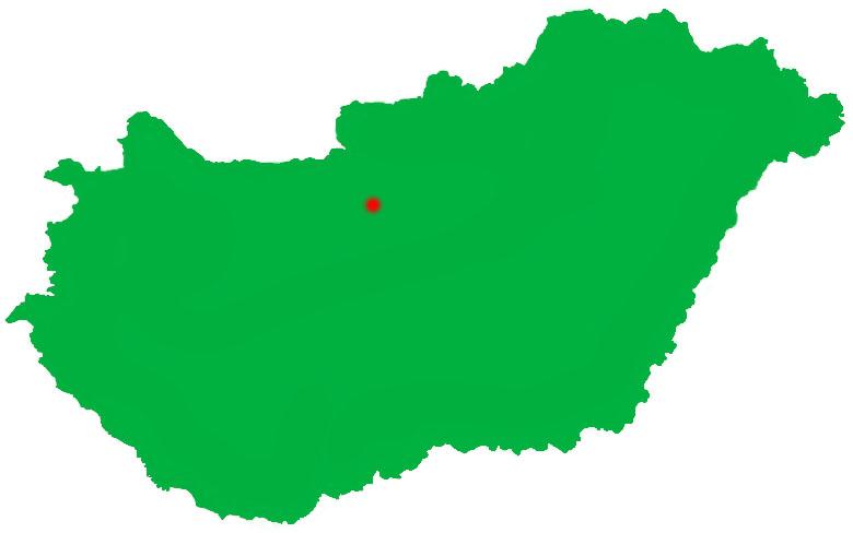 Mapa de Budapest dentro de Hungría.