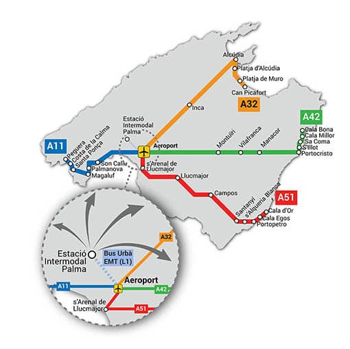 Autobuses interurbanos de Mallorca