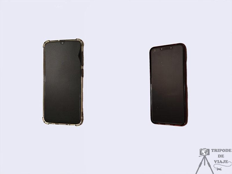 Samsung Galaxy A50 y Huawei Lite 20