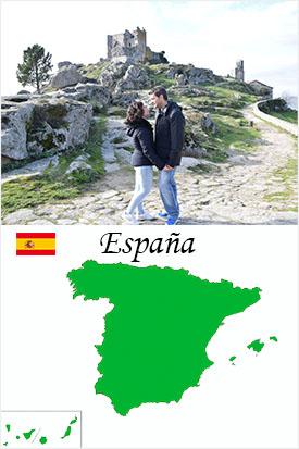 Portada para España en los países visitados en Europa