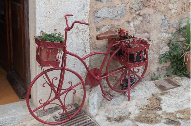 Bici decorativa en Valldemossa.